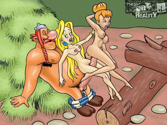 asterix fucks two sluts