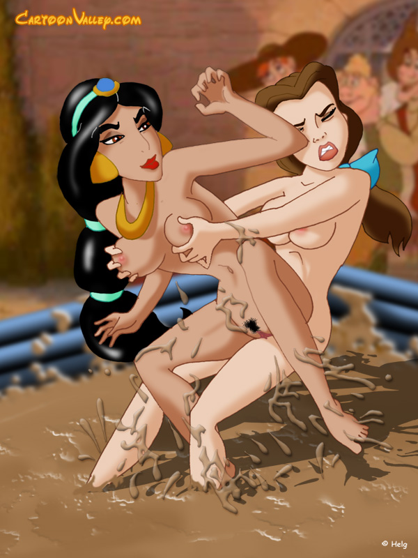 belle and jasmine catfighting