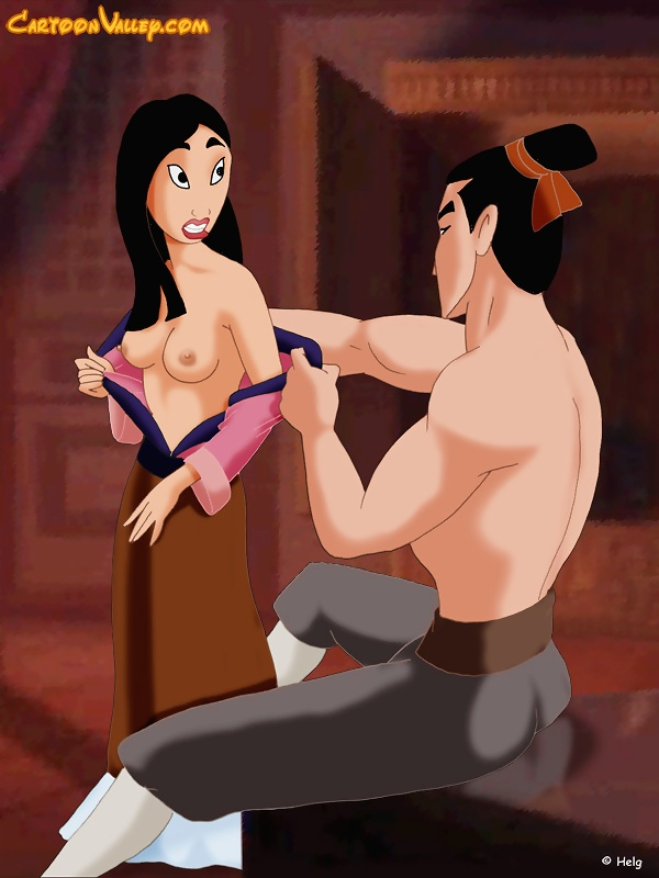 Mulan is having sex with Shang